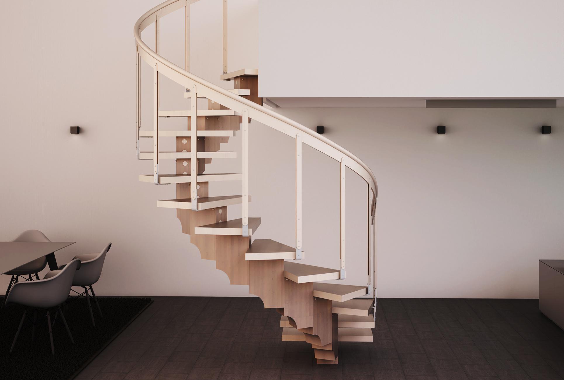 Scale A Chiocciola Moderne scale per interni: recta by scalyssa scale in legno autoportanti