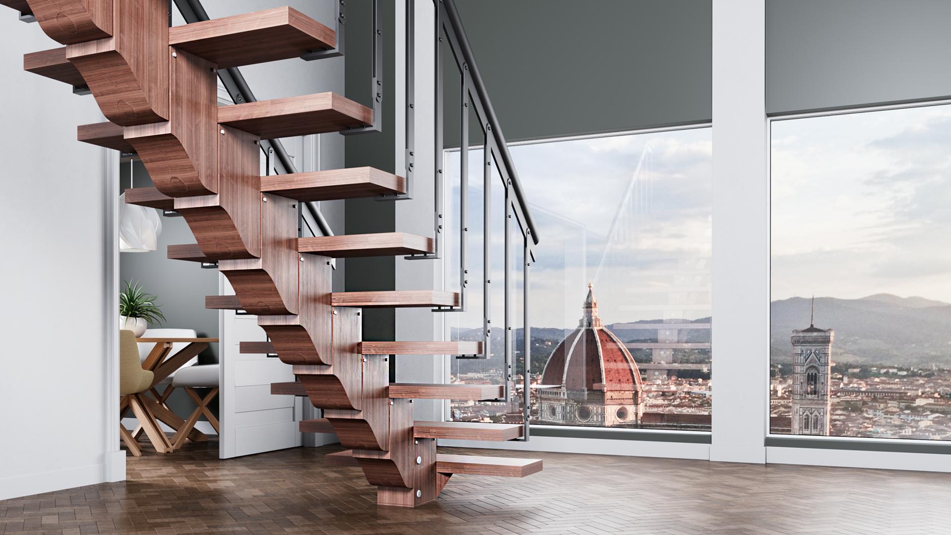 Scale per interni recta by scalyssa scale in legno autoportanti - Scale per interni catania ...